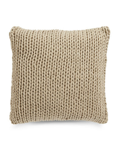 Glucksteinhome Cable Knit Cushion-BEIGE-18x18