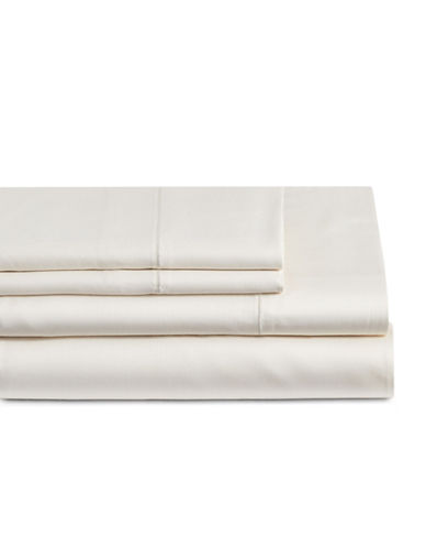 Glucksteinhome Four-Piece Cotton Blend Sheet Set-SEA SALT-Queen