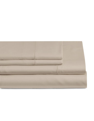 Glucksteinhome Four-Piece Cotton Blend Sheet Set-CASHMERE-Queen