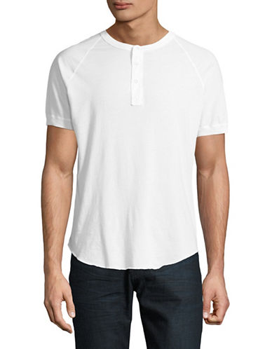 Save Khaki Supima Jersey Henley-WHITE-Small