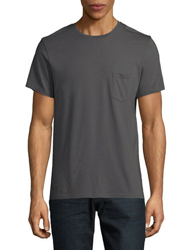 Save Khaki Heathered Open Pocket T-Shirt-GREY-Medium