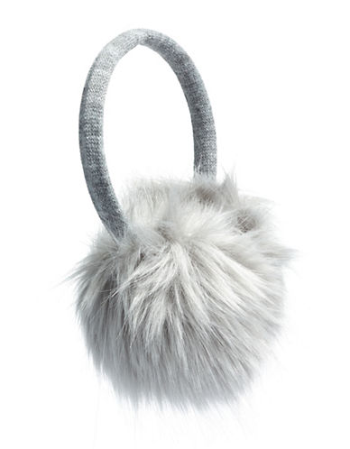 Canadian Olympic Team Collection Adult Faux Fur Earmuffs-GREY-One Size