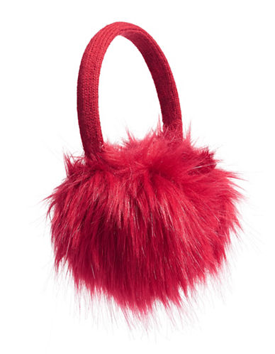 Canadian Olympic Team Collection Adult Faux Fur Earmuffs-RED-One Size