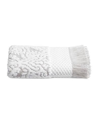Glucksteinhome Mosaic Cotton Bath Towel-GREY/WHITE-Bath Towel