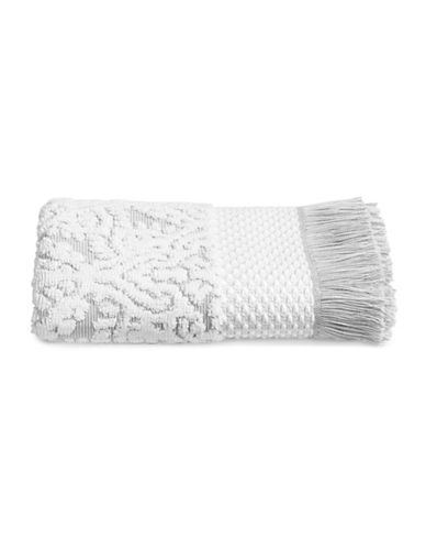 Glucksteinhome Mosaic Cotton Hand Towel-GREY/WHITE-Hand Towel