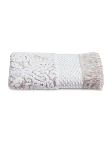 Glucksteinhome Mosaic Cotton Bath Towel-TAUPE/WHITE-Bath Towel