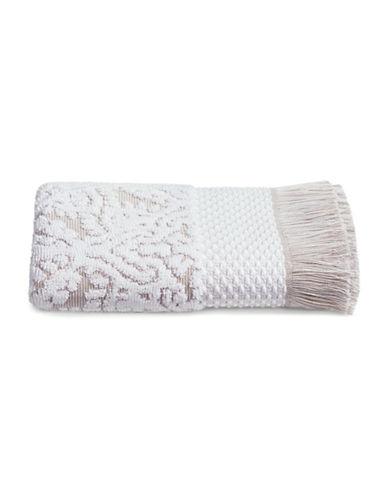Glucksteinhome Mosaic Cotton Hand Towel-BEIGE/KHAKI-Hand Towel