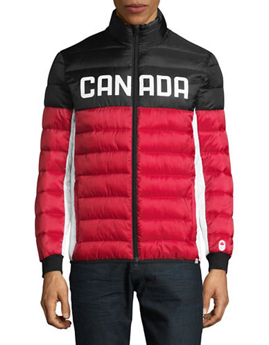 Canadian Olympic Team Collection Mens Ceremony Puffer Jacket-RED-Large