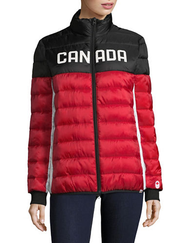 Canadian Olympic Team Collection Womens Ceremony Puffer Jacket-RED-X-Small
