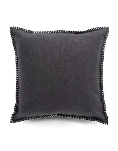 Glucksteinhome Modern Ikat Felt Cushion-GREY-16X16