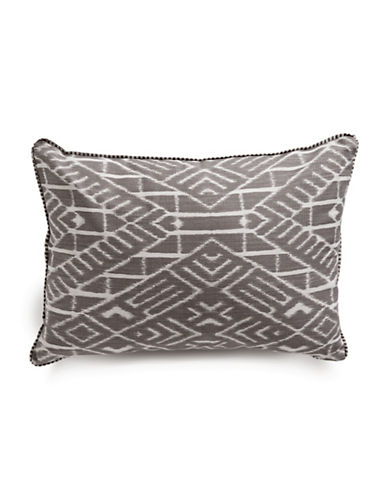 Glucksteinhome Modern Ikat Cushion-GREY-One Size