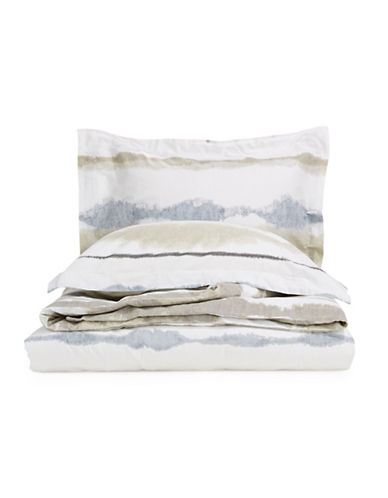 Glucksteinhome Quinn Three-Piece Printed Linen Duvet Cover Set-MULTI-Queen