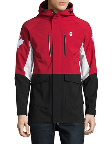 Canadian Olympic Team Collection Mens Closing Ceremony Softshell Jacket-RED-Medium