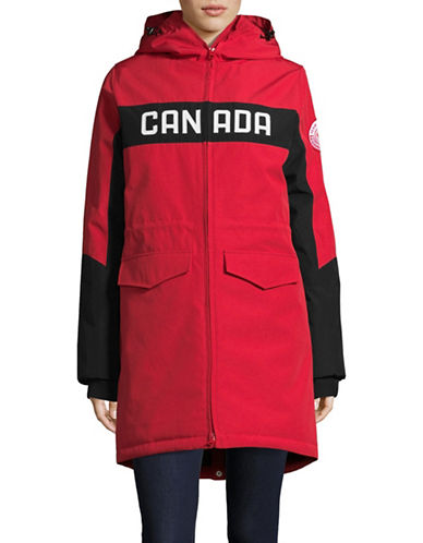 Canadian Olympic Team Collection Womens Opening Ceremony Parka-RED-X-Small