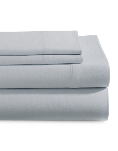 Glucksteinhome Four-Piece Linen-Cotton Sheet Set-GREY-King