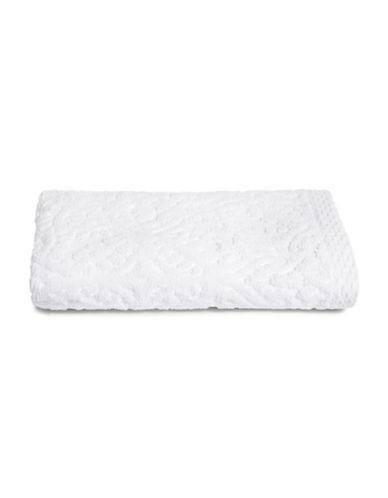 Glucksteinhome Medallion Cotton Plush Hand Towel-WHITE-Hand Towel