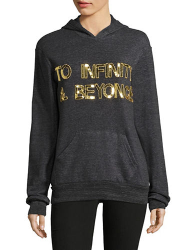 Bow And Drape To Infinity and Beyonce Hoodie-CHARCOAL-Medium