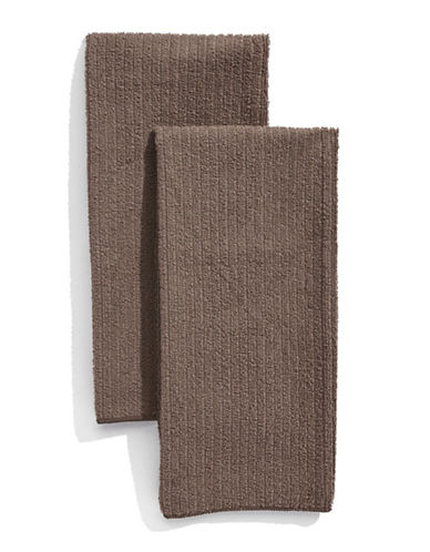Distinctly Home Classic Kitchen Set of Two Microfibre Kitchen Towels-TAUPE-One Size