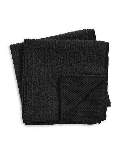 Distinctly Home Two-Piece Microfibre Dishcloth Set-BLACK-One Size