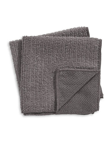 Distinctly Home Two-Piece Microfibre Dishcloth Set-GREY-One Size