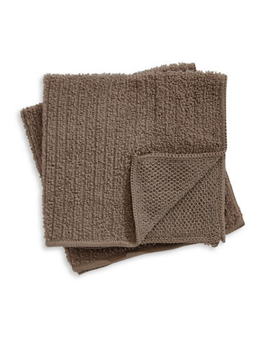 Distinctly Home Set of Two Microfibre Dishcloths-BROWN-One Size
