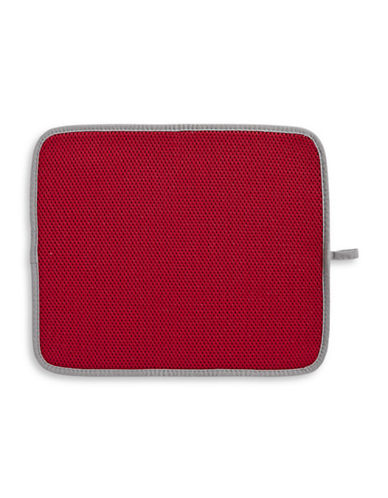 Distinctly Home Classic Kitchen Dish Drying Mat-RED-One Size