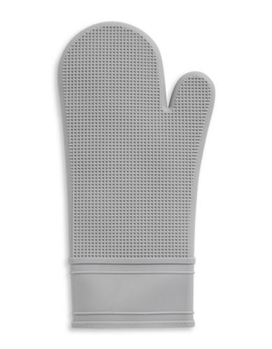 Distinctly Home Classic Kitchen Non-Slip Silicone Oven Mitt-GREY-One Size