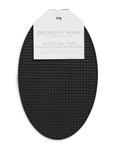 Distinctly Home Silicone Oval Trivet-BLACK-One Size