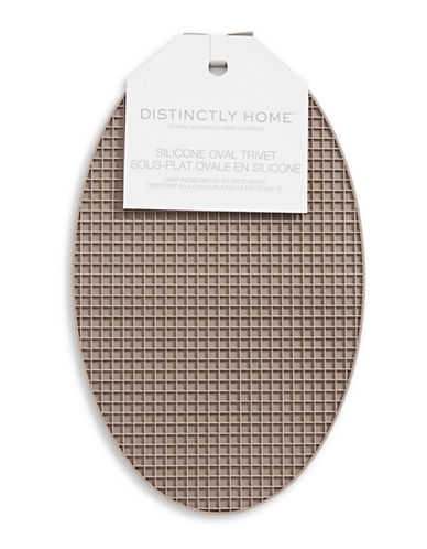 Distinctly Home Classic Kitchen Silicone Oval Trivet-TAUPE-One Size