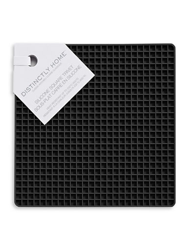 Distinctly Home Silicone Square Trivet-BLACK-One Size