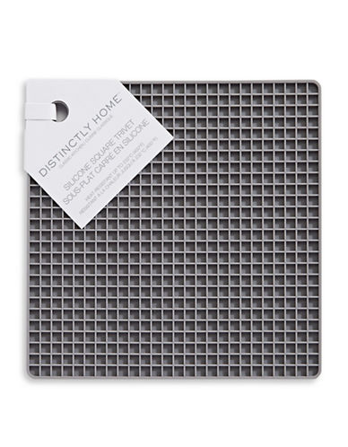 Distinctly Home Silicone Square Trivet-GREY-One Size