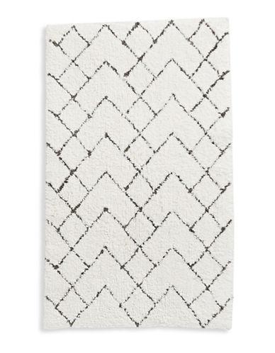 Distinctly Home Geometric Bath Rug-CHARCOAL-21x34