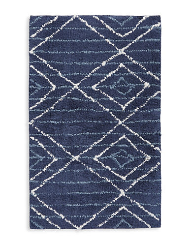 Distinctly Home Diamond Stripe Bath Rug-BLUE-21x34