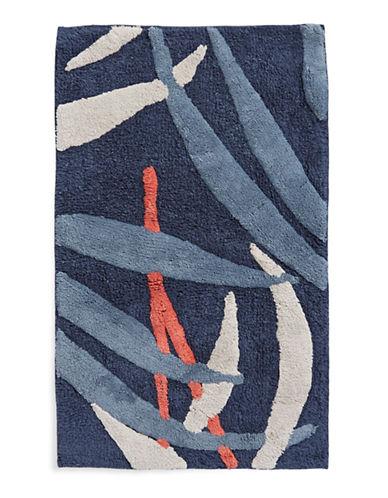 Distinctly Home Tropical Leaf Bath Rug-BLUE-21x34