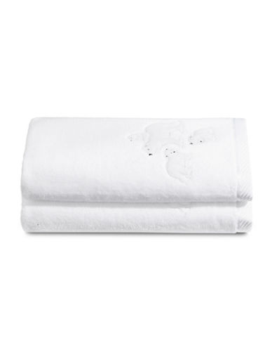 Distinctly Home Set of Two Polar Bear Cotton Hand Towels-WHITE-Hand Towel