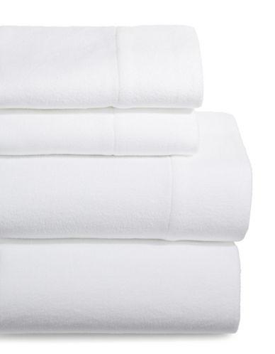 Home Studio Four-Piece Microfleece Sheet Set-WHITE-Double