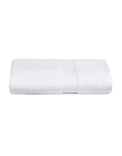 Home Studio Ribbed Border Cotton Bath Towel-WHITE-Bath Towel