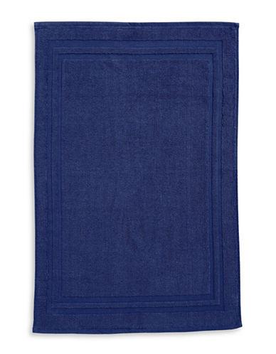Home Studio Spectrum Cotton Bath Mat-DRESS BLUE-Bath Mat