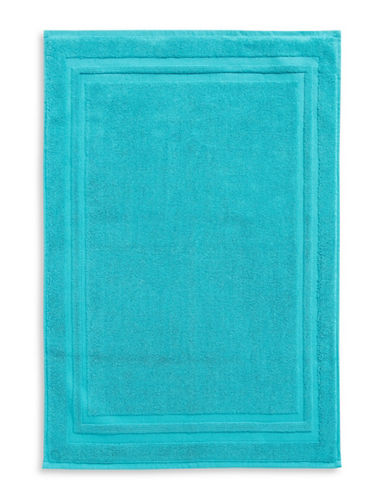 Home Studio Spectrum Cotton Bath Mat-PEACOCK BLUE-Bath Mat