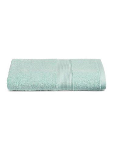 Home Studio Ribbed Border Cotton Bath Towel-EGGSHELL-Bath Towel