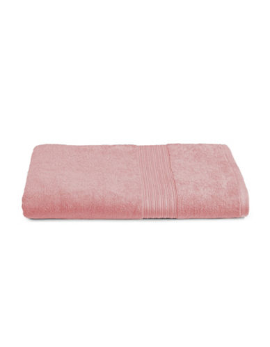 Home Studio Ribbed Border Cotton Bath Sheet-BLUSH-Bath Sheet