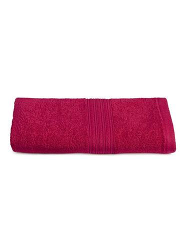 Home Studio Ribbed Cotton Hand Towel-MAGENTA-Hand Towel