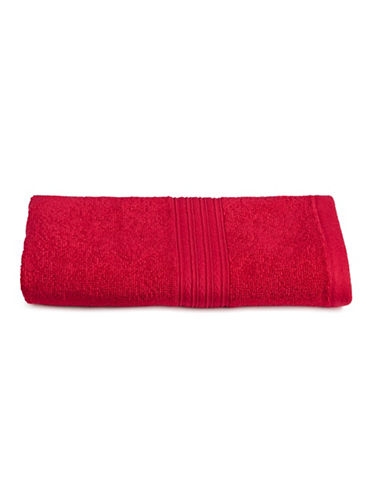 Home Studio Ribbed Cotton Hand Towel-RED-Hand Towel