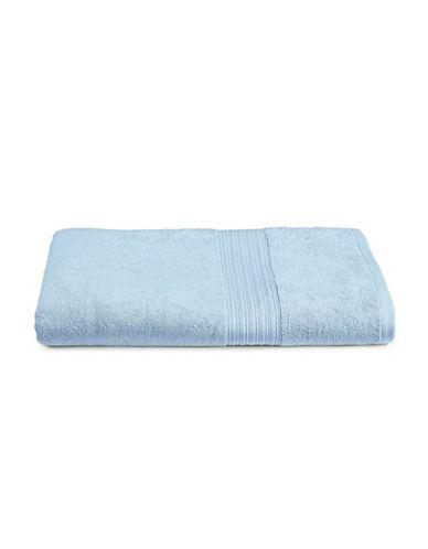 Home Studio Ribbed Border Cotton Bath Sheet-ARISE FLOWER-Bath Sheet