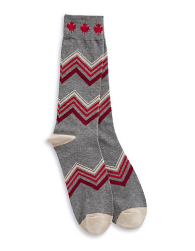 Canadian Olympic Team Collection Mens Country Sweater Trouser Socks-GREY-One Size