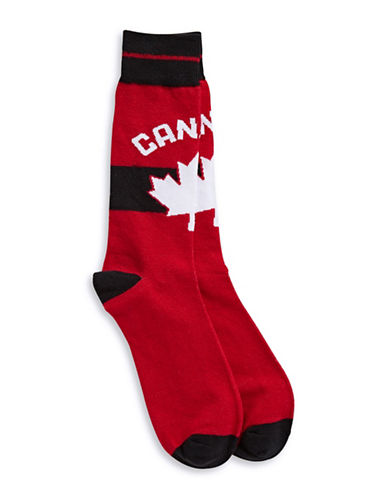 Canadian Olympic Team Collection Womens Canada Trouser Socks-RED-One Size