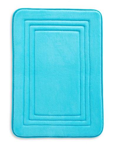 Dh Memory Foam Bath Mat-CYAN BLUE-17x24