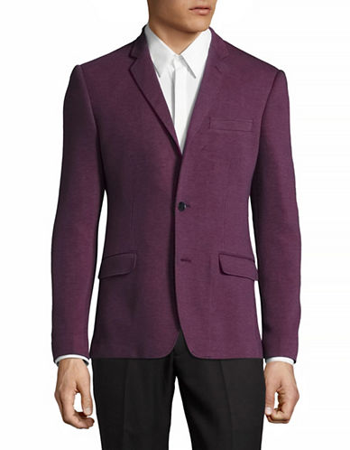 Haight And Ashbury Soft Stretch Knit Blazer-RED-40 Regular