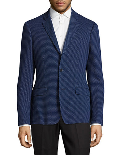 Haight And Ashbury Soft Stretch Knit Blazer-BLUE-48 Regular