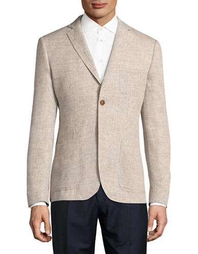 Haight And Ashbury Linen Blazer-NATURAL-42 Regular